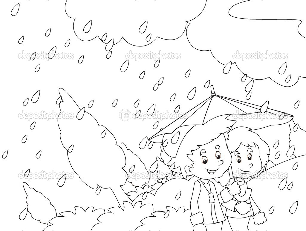1024x771 Rainy Day Coloring Pages