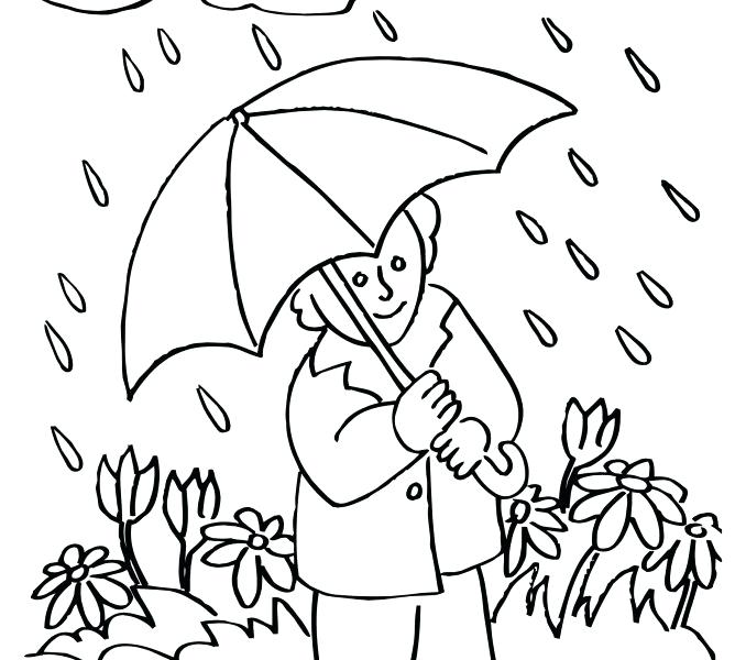 678x600 At Cloudy Day Coloring Page Rainy Pages Free Murs