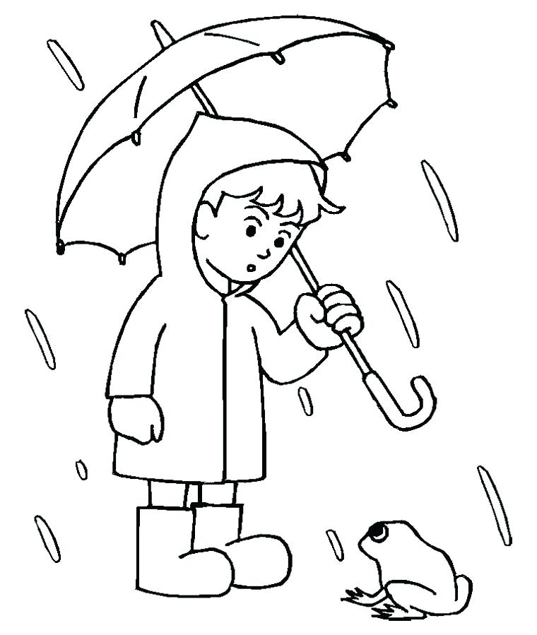 760x899 Rainy Day Coloring Pages To Print About Remodel For Kids Download
