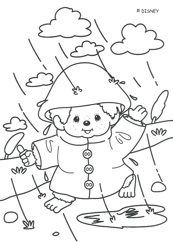 607x850 Rainy Day Pictures To Color Cloudy Day Coloring Pages Brexitbook