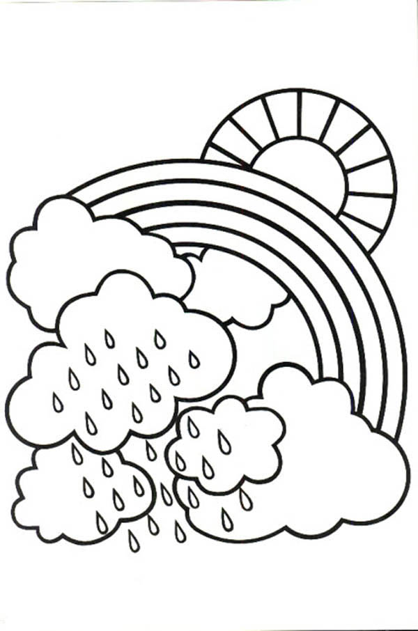 600x906 Cloudy Day Coloring Pages Cloudy Weather Coloring Pages