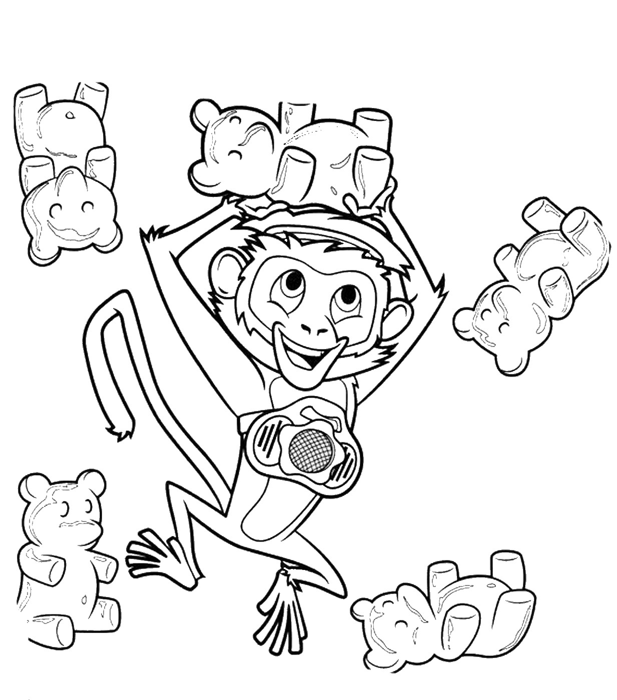 1233x1400 Cloudy With A Chance Of Meatballs Coloring Pages