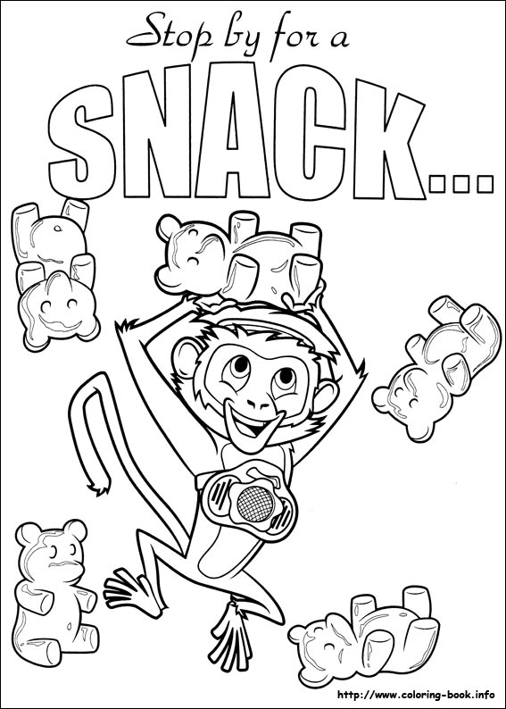 567x794 With A Chance Of Meatballs Coloring Picture