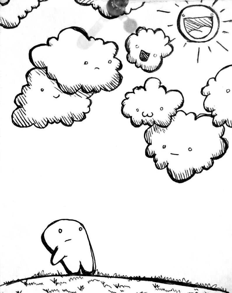 795x1005 Cloudy Day By Clayangelartistry