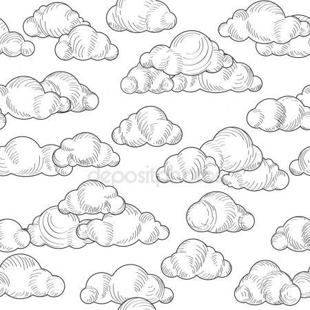450x450 Cloudy Sky Seamless Background Stock Vector Yokodesign