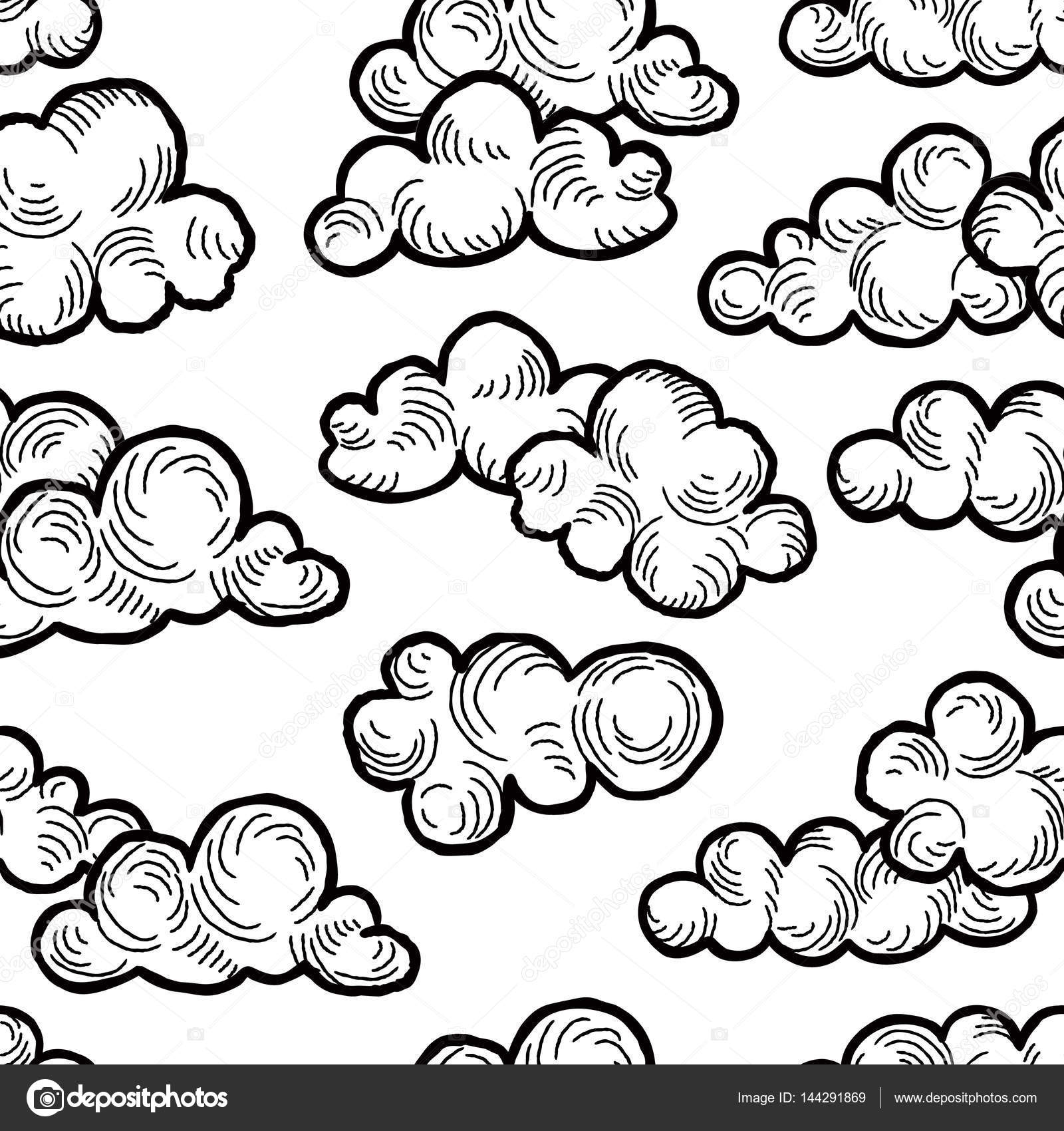 1600x1700 Cloudy Sky Seamless Background Stock Vector Yokodesign