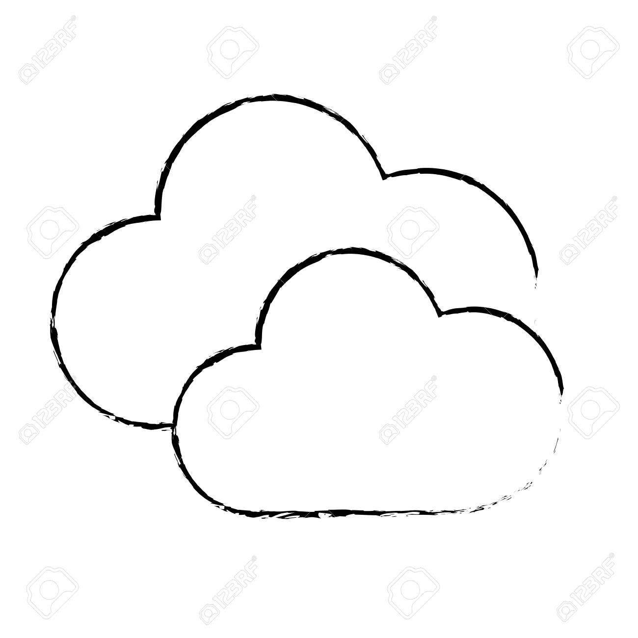 1300x1300 Figure Nice Clouds Weather Of Sky Royalty Free Cliparts, Vectors