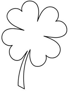 236x304 Four Leaf Clover Template Coloring Page Free Download