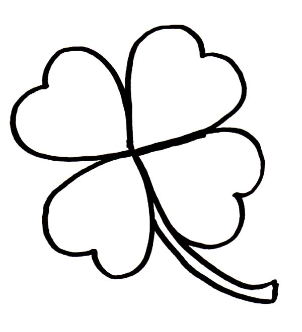 600x661 four leaf clover coloring pages rare four leaf clover for good