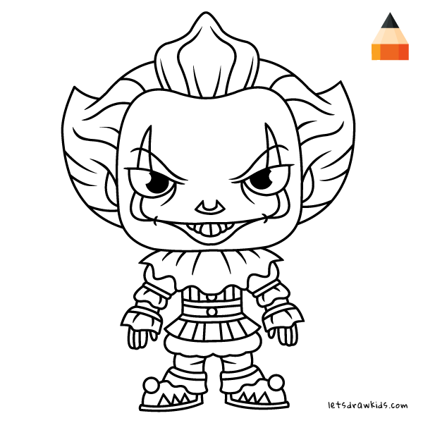 600x600 How To Draw Pennywise The Clown It
