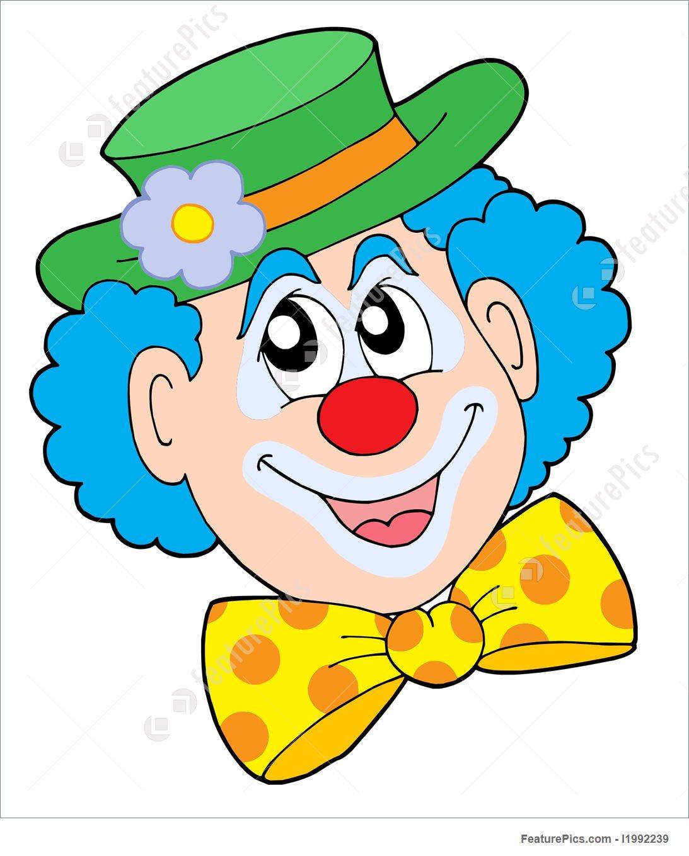 1093x1360 Portrait Of Clown Vector