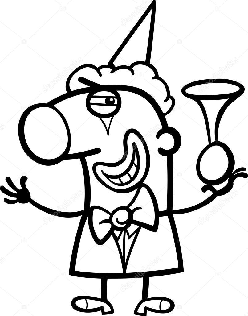 805x1024 Clown Cartoon Coloring Page Stock Vector Izakowski