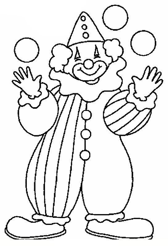 545x794 Clown Coloring Pages For Kids Coloring Worksheets (4) Coloring