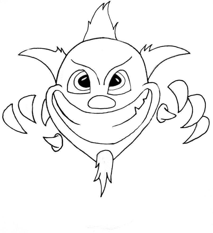 900x984 Evil Clown By Saidesigns