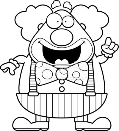 400x439 Cartoon Clown Idea Stock Vector