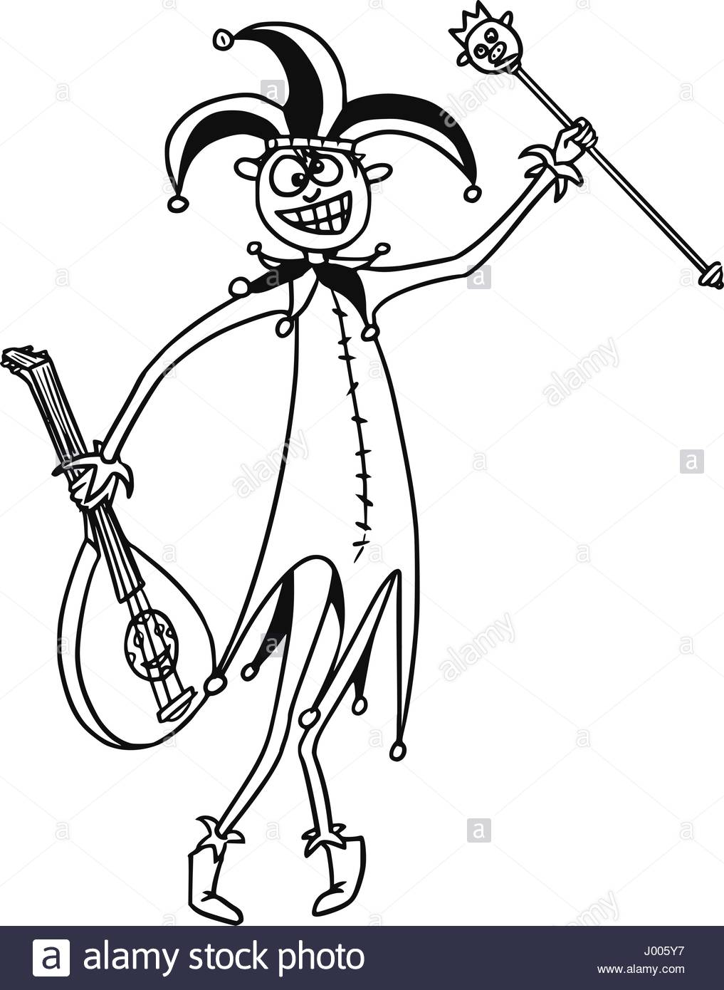 1017x1390 Cartoon Vector Fantasy Medieval Jester Fool Clown Buffoon With Hat