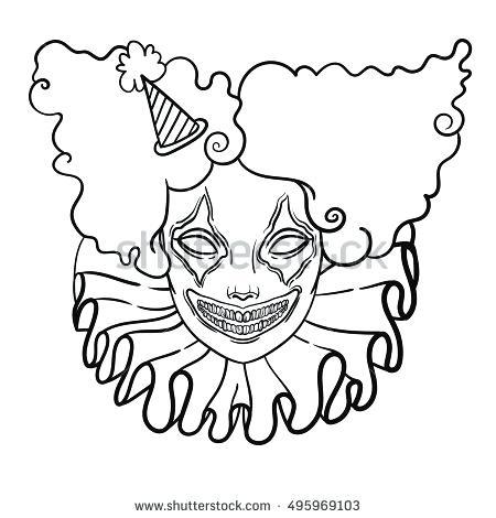 450x470 Clown Faces To Color Color Clown Step Free Clown Face Coloring