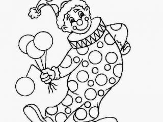 320x240 Colour Drawing For Kids Clown Pictures To Colour Many Interesting