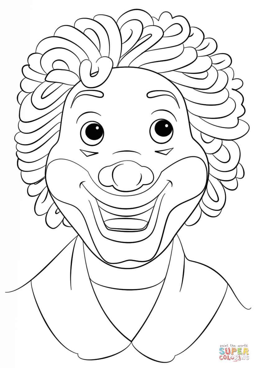 clown face drawing at getdrawings  free download