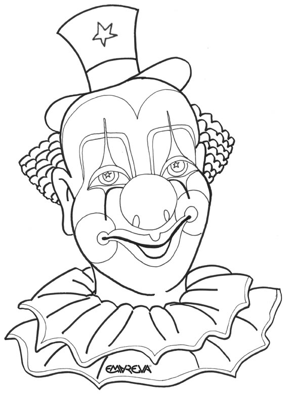567x785 coloring pages draw a clown face