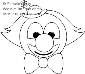 Clown face drawing at getdrawings free for personal use clown 300x261 art image of a clown face coloring page maxwellsz