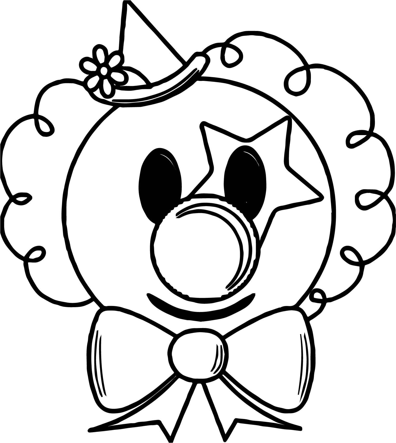 clown face coloring pages - photo#18