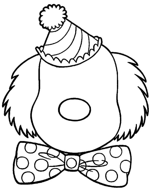 600x783 clown face coloring pages