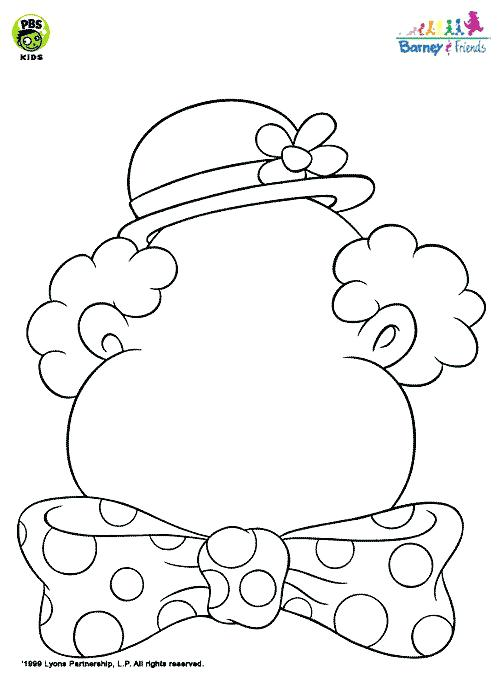 504x684 Clown Faces To Color Sad Clown Birthday Clown Coloring Page Blank