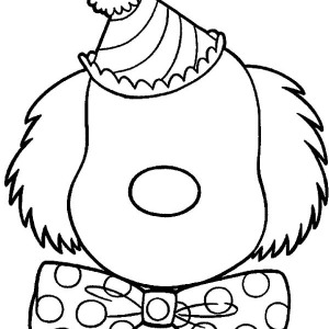 300x300 clown type of face coloring page coloring sun