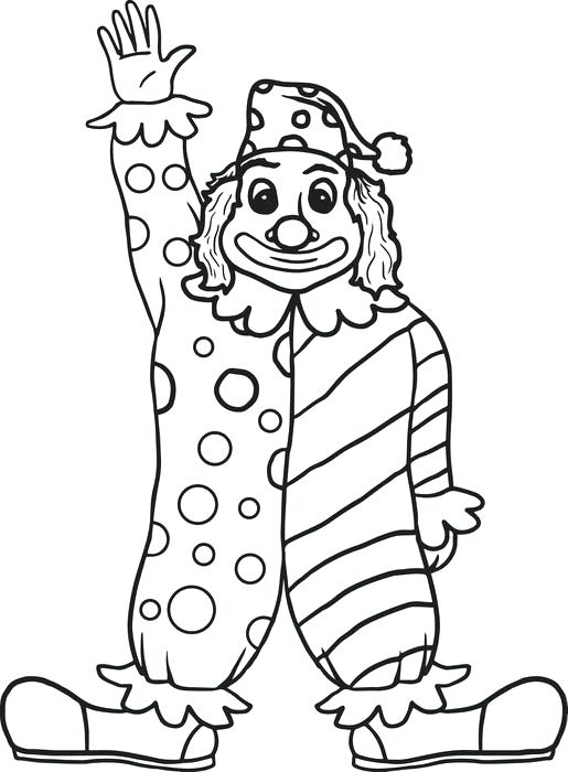 515x700 Coloring Pages Clown Clown Coloring Page Coloring Pages Clown Face