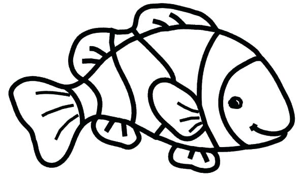 600x355 Coloring Page Fish Mesmerizing Clown Fish Coloring Page On Line