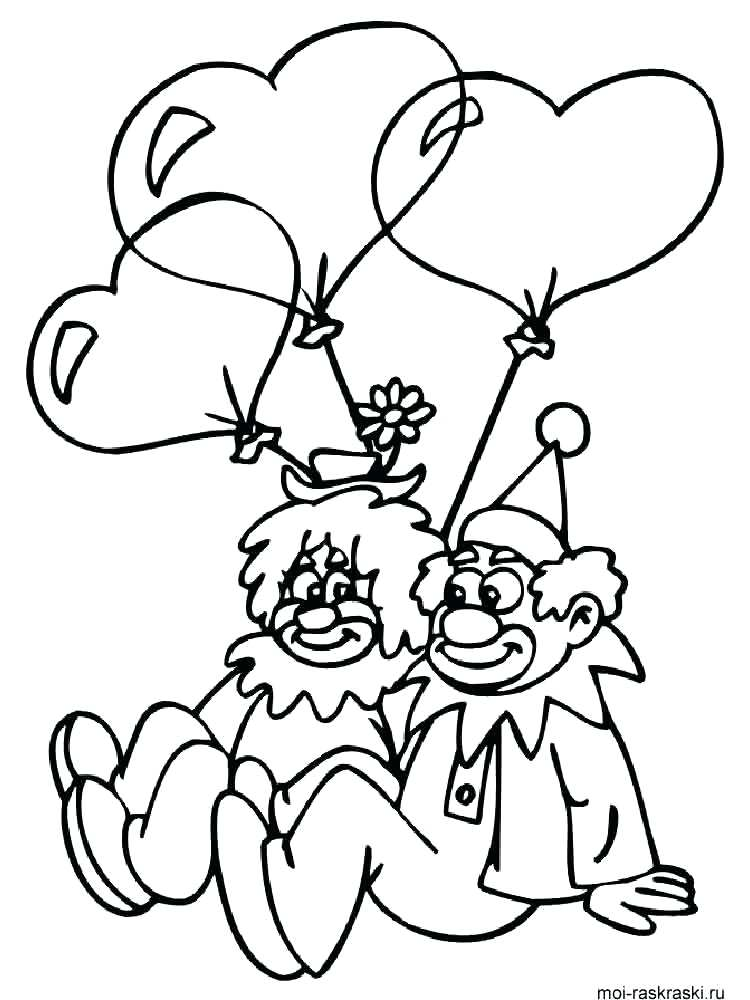 750x1000 Coloring Pages Clown Clown Coloring Pages Free Clown Fish Coloring