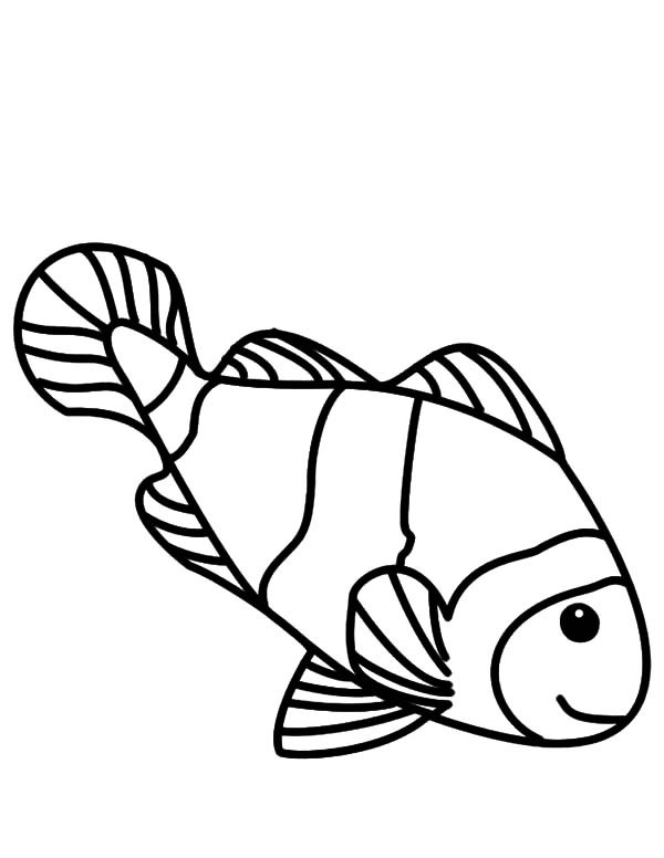 600x776 Clown Fish Coloring Pictures Coloring Page For Kids