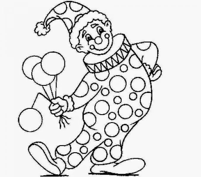 678x600 Colour Drawing For Kids Clown Pictures To Colour Many Interesting