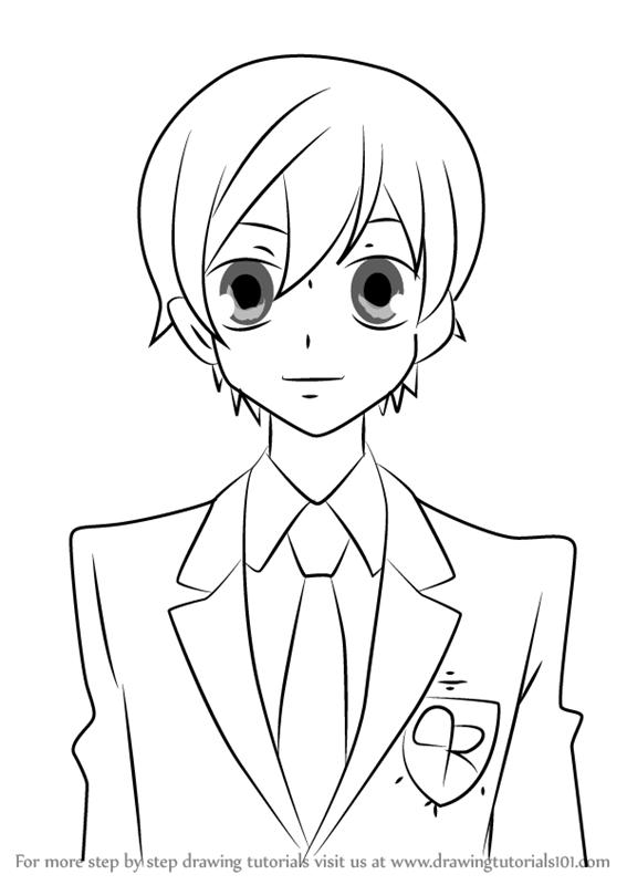 567x800 Learn How To Draw Haruhi Fujioka From Ouran High School Host Club