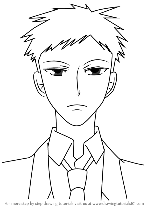 567x800 Learn How To Draw Mori From Ouran High School Host Club (Ouran