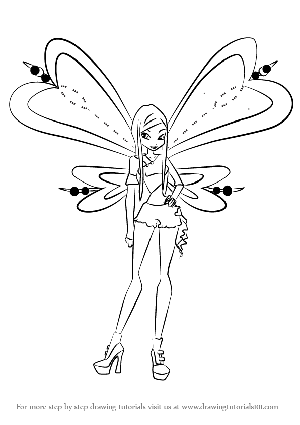 596x843 Learn How To Draw Roxy From Winx Club (Winx Club) Step By Step