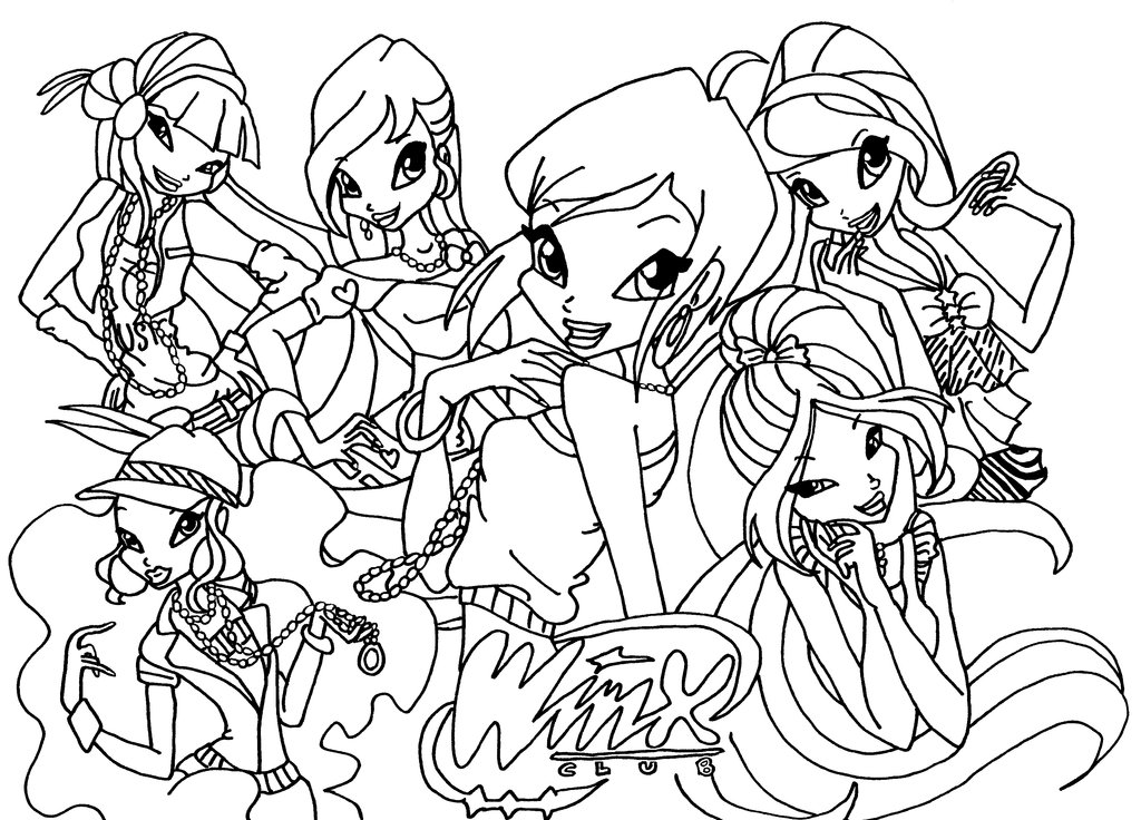 1024x736 Winks Coloring Pages Winx Club Cartoon Coloring Pages The Winx