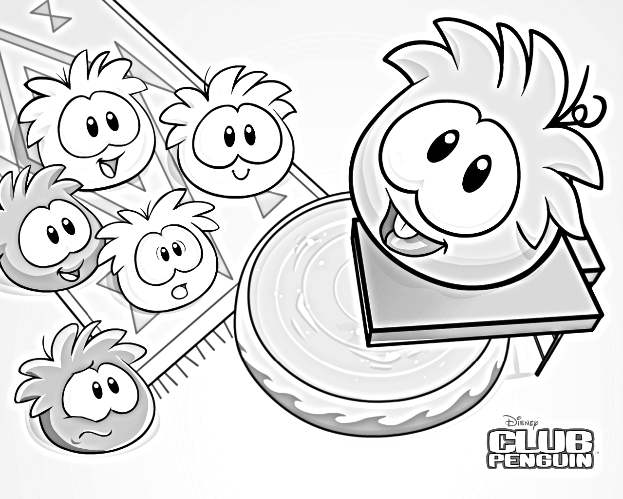 1279x1023 Club Penguin Puffle Coloring Pages