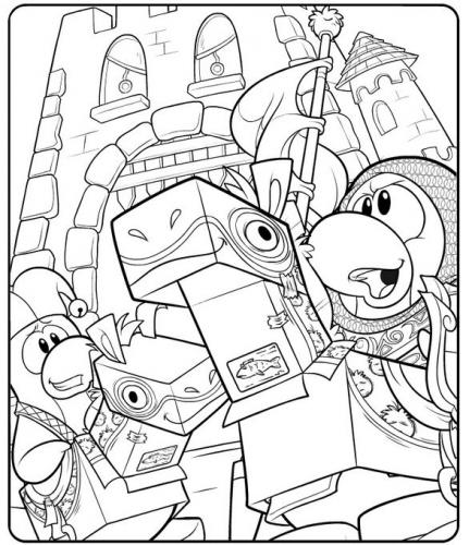 431x500 New Club Penguin Medieval Party Coloring Page Club Penguin Cheats