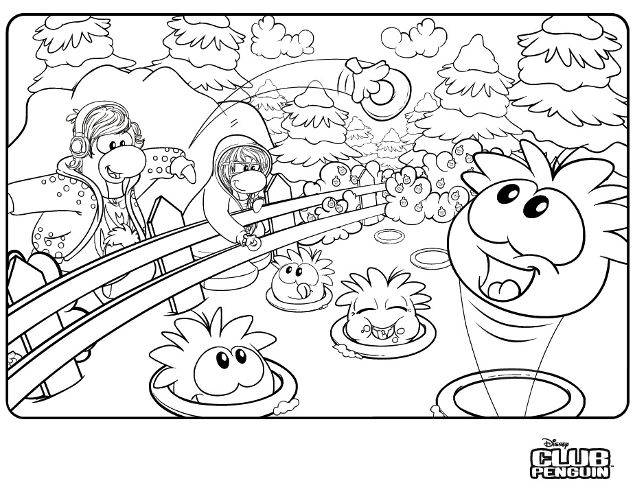 925x720 Club Penguin Coloring Pages Free Bebo Pandco