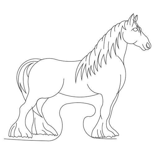 500x500 Shop Category Animals Mammals Product Clydesdale Horse 2 Bdr