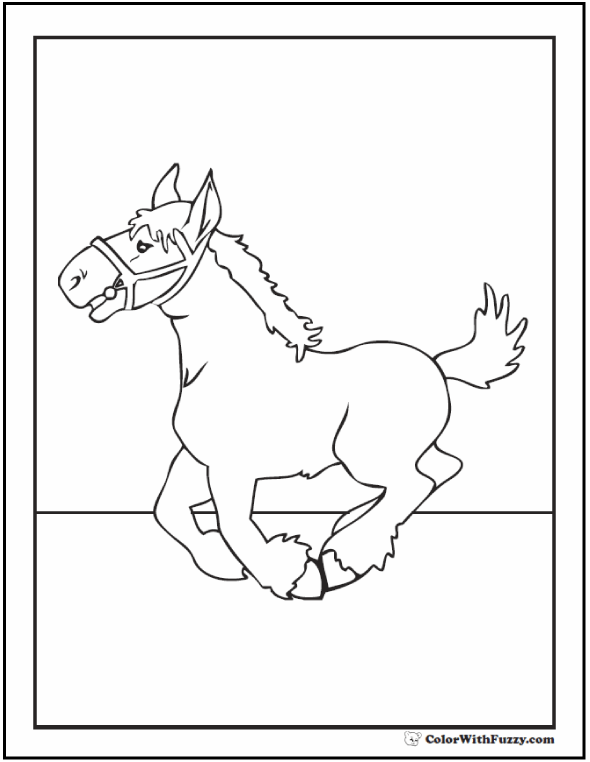 590x762 Clydesdale Horse Coloring Page