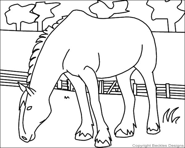 600x481 Clydesdale Horse Coloring Pages To Print Coloring Pages
