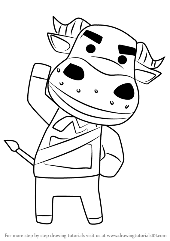 566x800 Learn How To Draw Coach From Animal Crossing (Animal Crossing