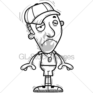 325x325 Sad Cartoon Black Man Coach Gl Stock Images