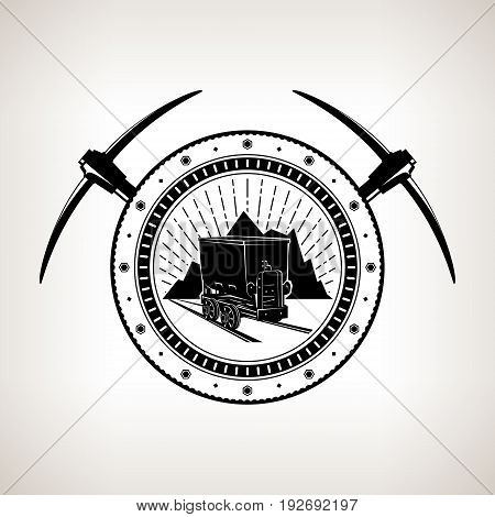 450x470 Vintage Emblem Mining Industry Vector Amp Photo Bigstock