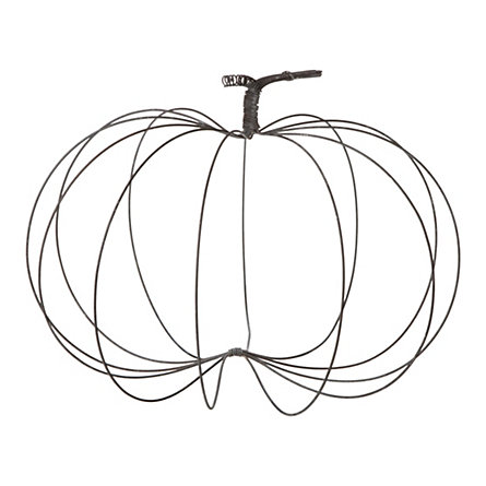445x445 Rustic Wire Pumpkin, Large Wire Hangers, Hanger And Craft