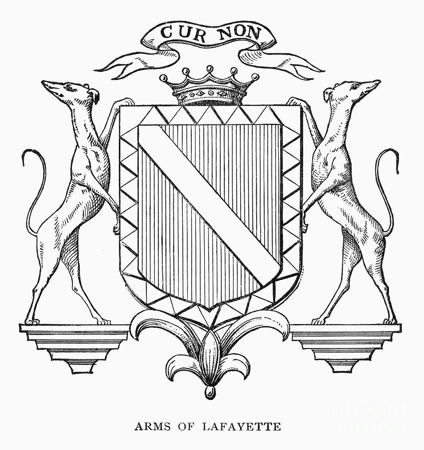 849x900 Coat Of Arms Lafayette Photograph By Granger