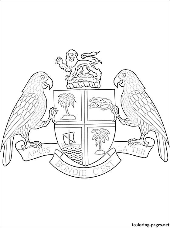 560x750 Dominica Coat Of Arms Coloring Page Coloring Pages